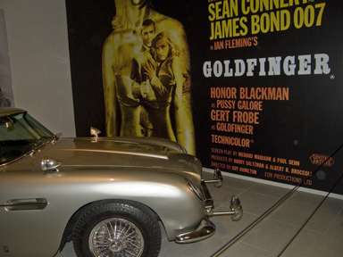 Aston Martin DB5 at Louwman Museum