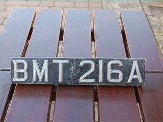 Original BMT 216A revolving number plate